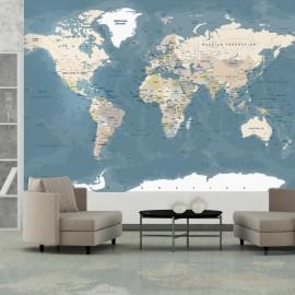 Papel de parede autocolante - Vintage World Map