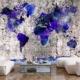 Papel de parede autocolante - World Map: Ink Blots