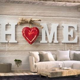Papel de parede autocolante - Home Heart (Red)