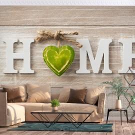 Papel de parede autocolante - Home Heart (Green)
