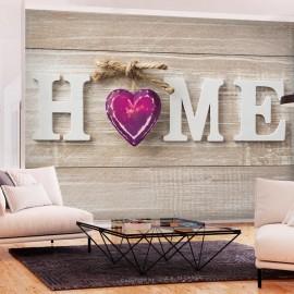 Papel de parede autocolante - Home Heart (Violet)