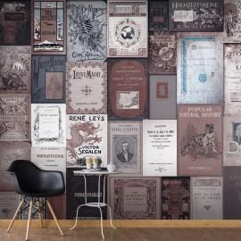 Fotomural autoadhesivo - Retro Style: Books