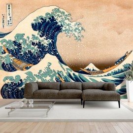 Papel de parede autocolante - Hokusai: The Great Wave off Kanagawa (Reproduction)