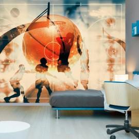 Papel de parede autocolante - I love basketball!