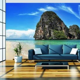 Fotomural - Un paisaje exótico, playa Railay, Tailandia
