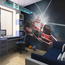 Fotomural - Velocidade e dinâmica da Fórmula 1