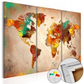 Tablero de corcho - Painted World [Cork Map]