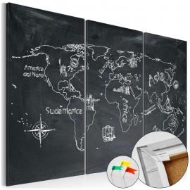 Quadro de cortiça - Geography lesson [Cork Map]