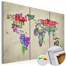 Tablero de corcho - Colorful Countries [Cork Map]