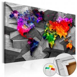 Quadro de cortiça - Cubic World [Cork Map]