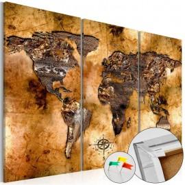 Quadro de cortiça - Shade of Gold [Cork Map]