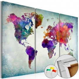 Tablero de corcho - World in Colors [Cork Map]