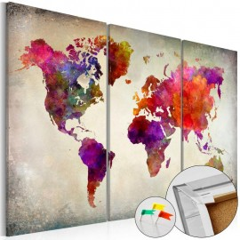 Quadro de cortiça - Mosaic of Colours [Cork Map]