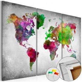 Quadro de cortiça - Diversity of World [Cork Map]
