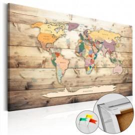 Quadro de cortiça - The World at Your Fingertips [Cork Map]