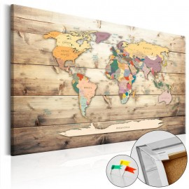 Tablero de corcho - The World at Your Fingertips [Cork Map]