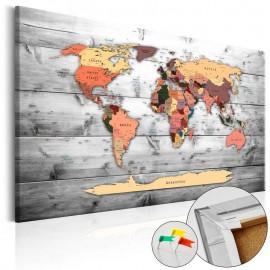 Quadro de cortiça - Direction World [Cork Map]