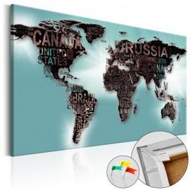 Quadro de cortiça - Subtlety of the World [Cork Map]