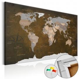 Quadro de cortiça - Cinnamon Travels [Cork Map]
