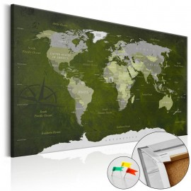 Quadro de cortiça - Malachite World [Cork Map]