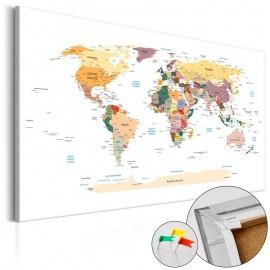 Quadro de cortiça - World Map [Cork Map]
