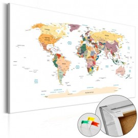 Tablero de corcho - World Map [Cork Map]