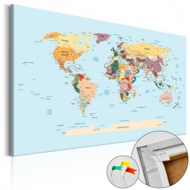 Quadro de cortiça - Travel with Me [Cork Map]