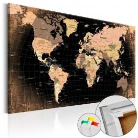 Quadro de cortiça - Planet Earth [Cork Map]