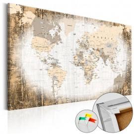 Quadro de cortiça - Enclave of the World [Cork Map]