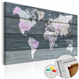 Quadro de cortiça - Journey through the World [Cork Map]