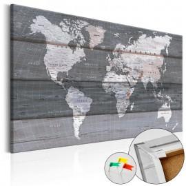 Quadro de cortiça - Grey Earth [Cork Map]