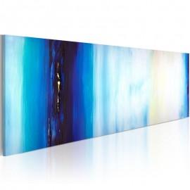 Quadro pintado à mão - Líquido azul