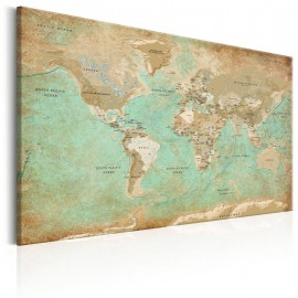 Cuadro - World Map: Celadon Journey