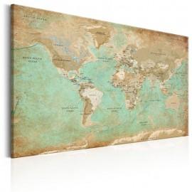 Quadro - World Map: Celadon Journey
