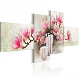 Cuadro pintado - El olor de magnolia