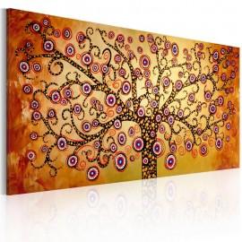 Quadro pintado à mão - Árvore pavão