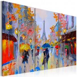 Quadro pintado à mão - Rainy Paris