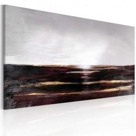 Quadro pintado à mão - Preto oceano