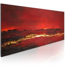 Cuadro pintado - Enrojecimiento del océano