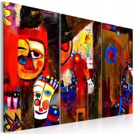 Quadro pintado à mão - Abstract Carnival
