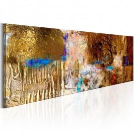 Quadro pintado à mão - Golden Structure