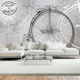 Fotomural - Vintage bicycles - black and white