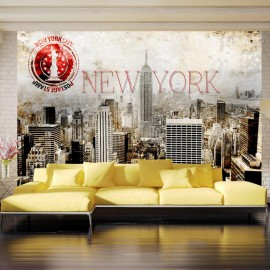 Fotomural - New York - POST AGE STAMP