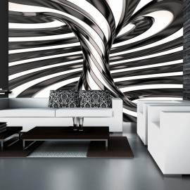 Fotomural - Black and white swirl