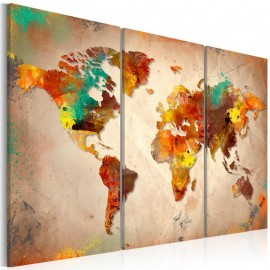Cuadro - Painted World - triptych