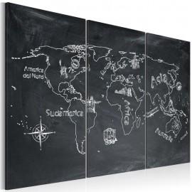 Cuadro - Clase de geografía(italiano) - tríptico