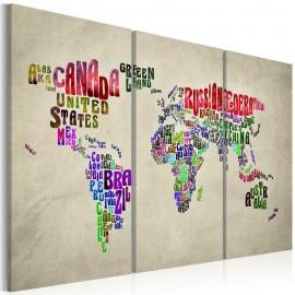 Quadro - Países coloridas - tríptico