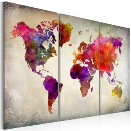 Cuadro - Mundo - mosaico de color