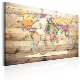 Cuadro - World Map: Colourful Continents