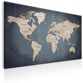 Quadro - World Map: Shades of Grey